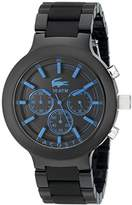 Lacoste Men's 2010772 Borneo Black Watch with Silicone Band