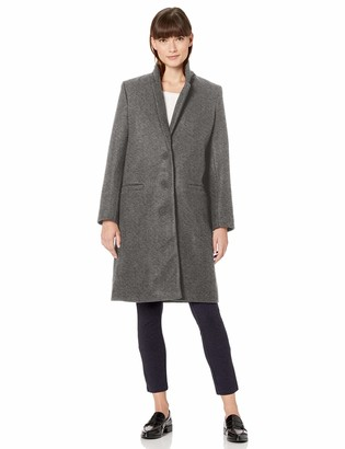 Amazon Essentials Women's Plush Button-Front Coat