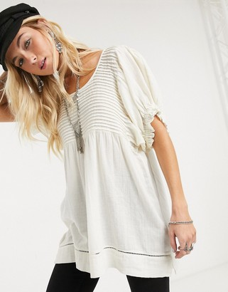 Free People elsie tunic in white