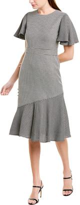 Prabal Gurung Victoria Wool & Silk-Blend Midi Dress