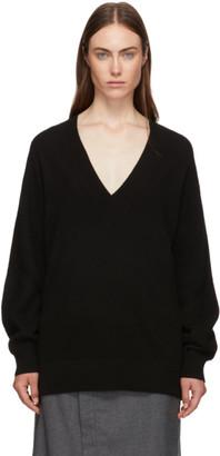 Rag & Bone Black Cashmere Logan V-Neck Sweater