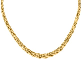 "Italian Gold 18"" Bold Spiga Link Necklace, 14K"