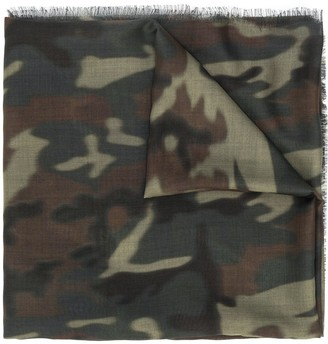 Tom Ford Camouflage Print Long Scarf