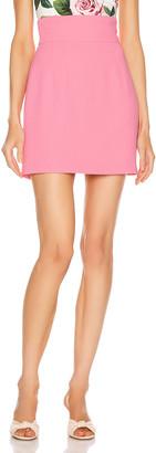 Dolce & Gabbana Mini Skirt in Dark Rose | FWRD
