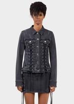 Versace ZXV Lace-up Denim Jacket