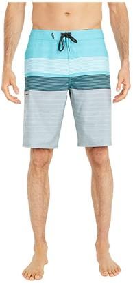 O'Neill Hyperfreak Heist Print Boardshorts (Grey) Men's Swimwear