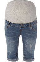 Dorothy Perkins Womens **Mamalicious Maternity Blue Denim Shorts- Blue