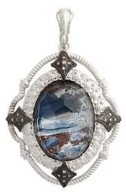 Armenta New World Semiprecious Stone & Diamond Oval Pendant