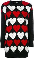 Love Moschino heart patterned jumper - women - Acrylic/Wool - 40