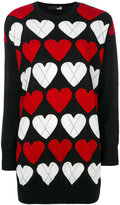 Love Moschino heart patterned jumper - women - Wool/Acrylic - 40