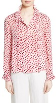 Saloni Women's Emile Polka Dot Fil Coupe Top