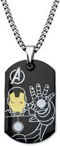 Iron Man The Avengers Stainless Steel Two Tone Dog Tag Necklace - Men