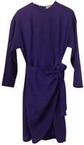 Pierre Balmain Purple Wool Dress for Women Vintage