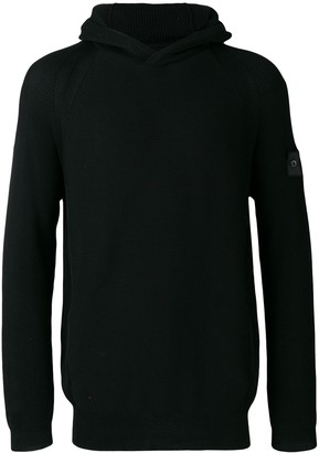 Stone Island Shadow Project Ribbed Hooded Jumper