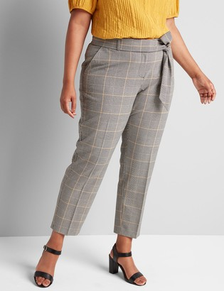 Lane Bryant Tailored Stretch Ankle Pant With Belt
