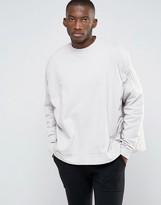 Asos Extreme Oversized Sweatshirt With Ruching Detail