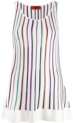 Missoni Striped Sleeveless Tunic Top