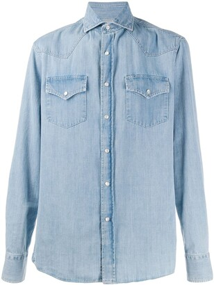 Brunello Cucinelli faded denim shirt
