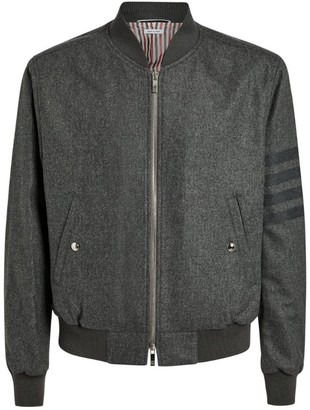 Thom Browne 4-Bar Wool Bomber Jacket