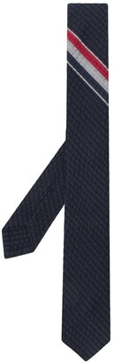 Thom Browne Rwb Seersucker Classic Tie