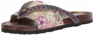 Muk Luks Women's Women's Elaine Terra Turf-Pink Multi Sandal