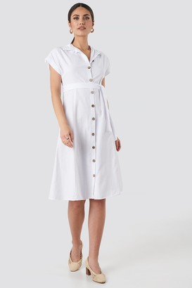 Trendyol Binding Detailed Shirt Dress White