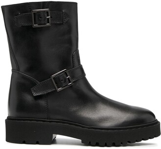 Hogan Side Buckle Ankle Boots
