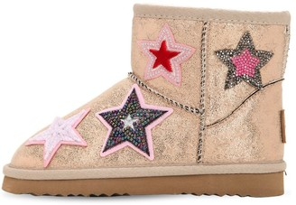 Colors of California Coated Synthetic Ankle Boots W/ Patches