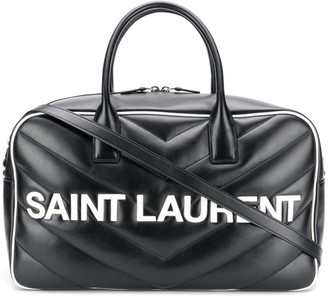Saint Laurent Logo Patch Quilted Holdall