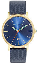 Ted Baker Graham Analog & Date Leather-Strap Watch