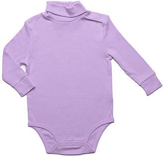 Leveret Girls' Infant Bodysuits Purple - Purple Turtleneck Bodysuit - Infant & Toddler