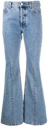 Vetements Mid-Rise Flared Leg Jeans