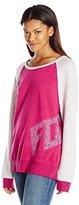 Fox Juniors Angled Pullover Burnout Fleece