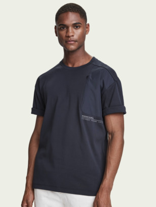 Scotch & Soda T-shirt with fabric insets | Men