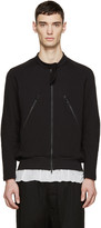 Ann Demeulemeester Black Zip-Up Sweatshirt