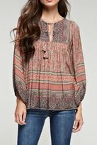 Love Stitch Lovestitch Printed Boho Top