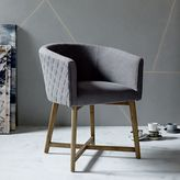 west elm Quilted Tub Dining Chair