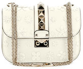 Valentino Lock Small Floral Shoulder Bag, Ivory