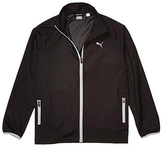 PUMA Golf Kids Wind Jacket (Big Kids) (PUMA Black) Boy's Coat