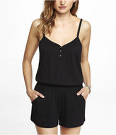 Express Placket Front Tank Romper