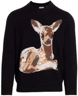 Burberry Deer Intarsia Wool Sweater