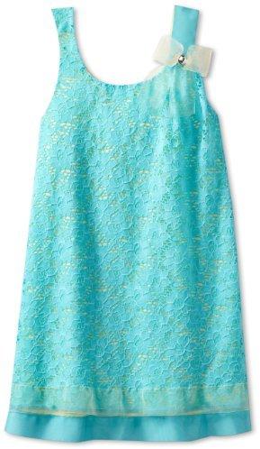 Bonnie Jean Girls 7-16 Aqua Lace Shift Dress