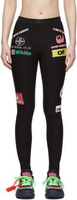 Off-White SSENSE Exclusive Black Multilogo Sporty Leggings