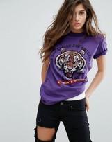 Criminal Damage T-Shirt With Tiger Print