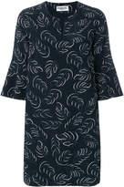 Essentiel Antwerp leaf print shift dress