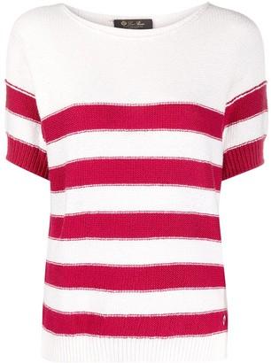 Loro Piana striped knitted T-shirt