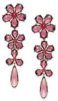 Kate Spade 14k Gold-Plated Crystal Flower Linear Drop Earrings