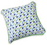 Caden Lane Preppy Square Throw Pillow in Navy
