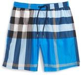 Burberry Men's 'Gowers' Check Swim Trunks