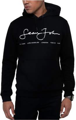 Sean John Men Regular-Fit Script Logo Hoodie